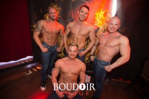 Shawn with the Boyz of Body Heat. Picture by Boudoir Rouge, used with permission.