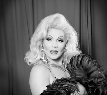 Transvestite on television